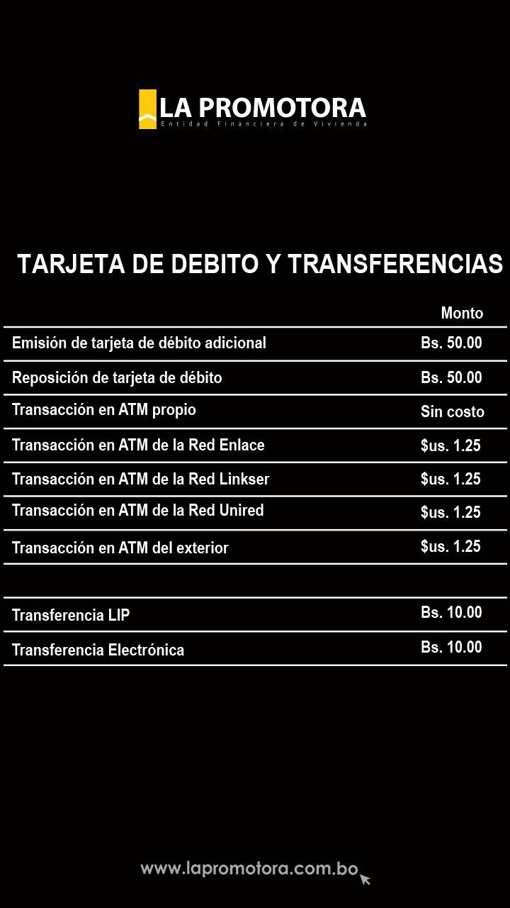 Tarjeta de Debito y Transferencias