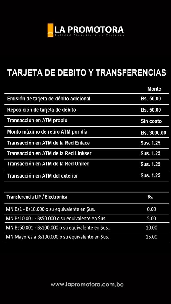 Tarjeta de Débito y Transferencias